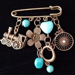 Artisan Handcrafted Found Items Brooch